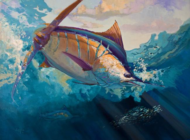 Blue Marlin Paintings Blue Marlin Painting by