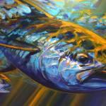 """""Deep Blue Blitz"" Bluefin tuna Art"" by Savlen"