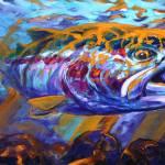 """""sol Duc Steel"" Steelhead Flyfishing Painting"" by Savlen"