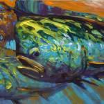 """""""""""Mahi at Sunset"""" mahi mahi dorado painting"""" by Savlen"""