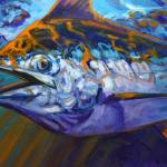 """""Catching Some Rays"" Blue Marlin Fishing Art"" by Savlen"