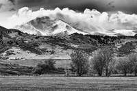 Longs Peak Hangin Black and White