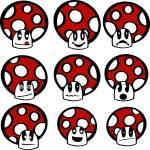 """""""Mushroom emoticons"""" by lirch"""