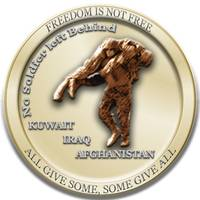 54th QM, Deployment coin 09 (Back Side)