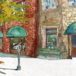 """Landscape Painting of Parkway Cafe"" by schulmanart"