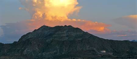 Mount Cristo Rey Sunset - Panorama