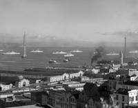 Bay Bridge from Telegraph Hill, San Francisco c193 by WorldWide Archive