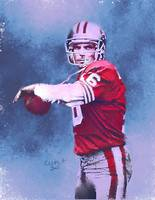 Joe Montana San Francisco 49ers NFL Art