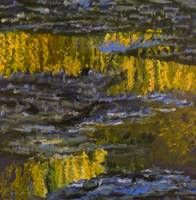 Monet inspired reflections of Weeping Willow on wa