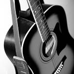 """Acoustic Guitar in Black and White"" by jamisonsyphersphotography"