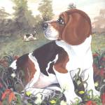 """Beagle Dog Puppy Art"" by artbykkay"