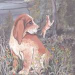 """English Coonhound Dog Puppy Art"" by artbykkay"