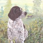 """German Shorthaired Pointer Dog Puppy Art"" by artbykkay"