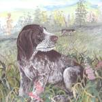 """German Wirehaired Pointer Dog Puppy Art"" by artbykkay"