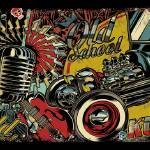 """Old school kustom car"" by dvicente-art"