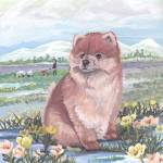 """Pomeranian Dog Puppy Art"" by artbykkay"