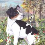 """Rat Terrier Dog Puppy Art"" by artbykkay"