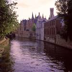"""Bruges Canal at Sundown 2002"" by PriscillaTurner"