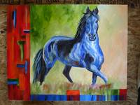 Abstract Arabian Horse Painting