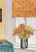 Vase in window