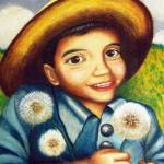 """Matias with Dandelions"" by MonicaVega"