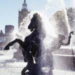 """Fountain & Statue"" by atlasphotographic"