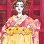 """""""Kabuki Girl"""" by artsyfartzy"""