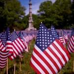 Memorial Day Flag Garden