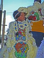 Mardi Gras Indians at Jazzfest #1