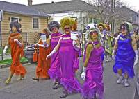 Drag Queens Parade on Mardi Gras Day, New Orleans