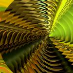 """Abstract of a Yellow & Lime Cymbal"" by CherylDaniels"