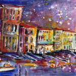 """""""Venice Reflections Celebrating Italy Watercolor by"""" by GinetteCallaway"""