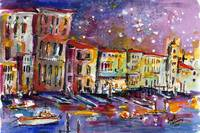 Venice Reflections Celebrating Italy Watercolor by