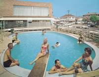 Eden Roc Motel Retro Pool Photograph from 1960, Wi