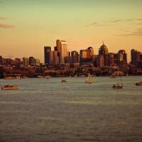 Boats on Lake Union Art Prints & Posters by Chris Garrett