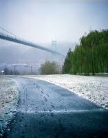 St. Johns Bridge, snow day