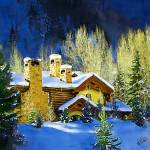 """Winter Home in the Rockies"" by marywhitmer"