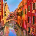 """Venice Canal Colors"" by marywhitmer"