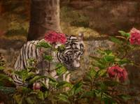 Tiger Among Roses