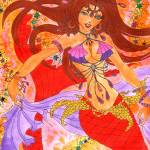 """Bellydancer Mermaid Ruby"" by sofianime"