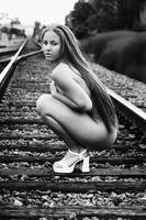 Nude on the tracks 2