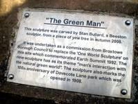 The Green Man Plaque - Dovecote Lane Park