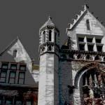 """Cobb Hall Turret At Dusk"" by LeonSarantosArtist"