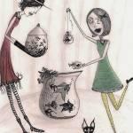 """Miss Buttoneye"" by inkydreamz"