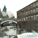 """Bridgend Flannel Mill"" by geneclements"