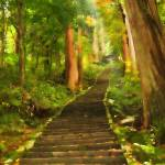 """""""Stairs to Haguro-san"""" by Artlife"""