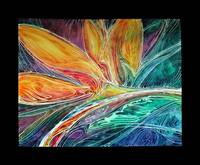 BIRD of PARADISE ABSTRACT in BATIK