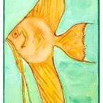 """Olivia Orange Fish"" by susangainen-smallfriends"