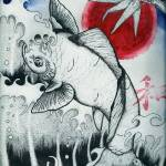 """Flying Koi"" by prayersofaninfidel"