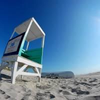 Lifeguard Stand's a Beach Art Prints & Posters by Alex Balcer